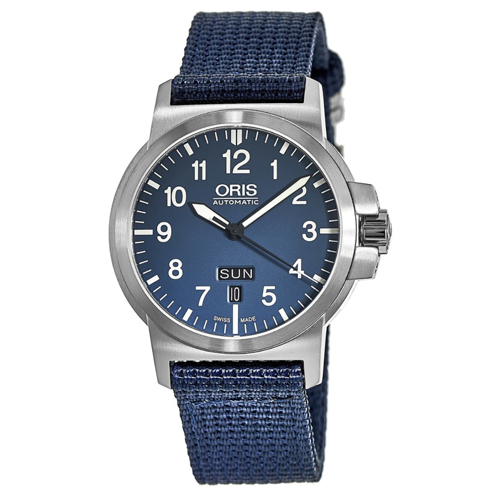 Oris BC3 Advanced Day Date Blue Dial